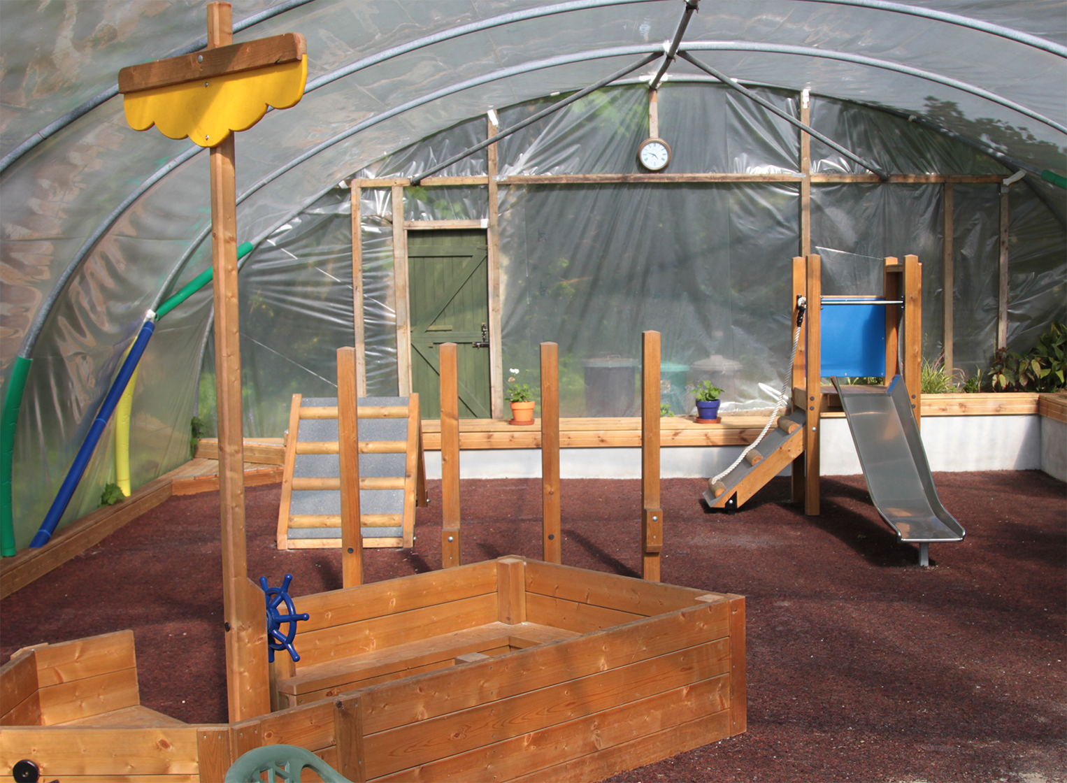 Indoor children's play area at Treglisson