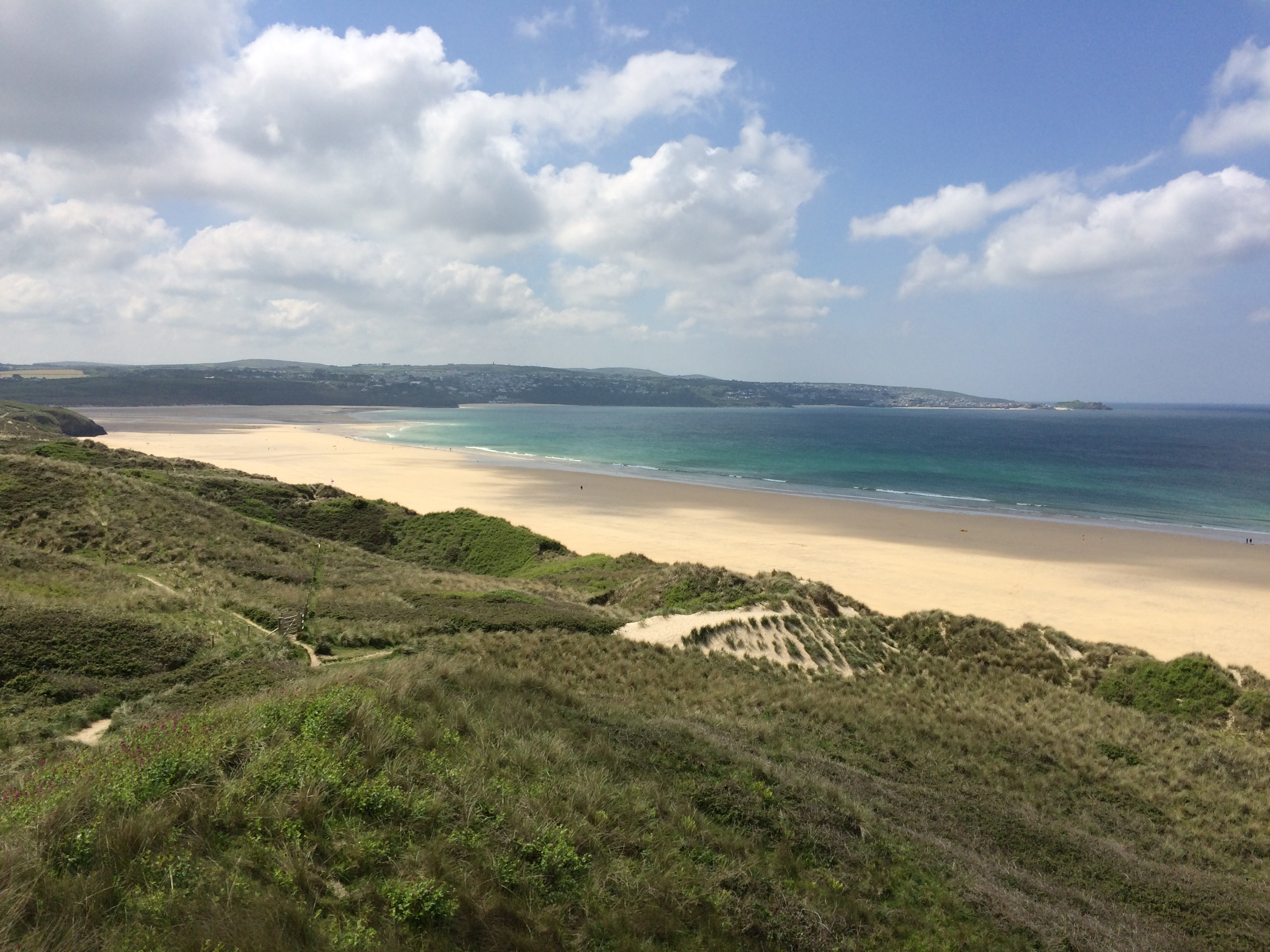 Beautiful sandy beaches at Gwithian and Godrevy